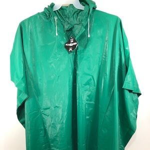 Aqua Sheen Hooded Poncho Cape Rain Unisex One Size